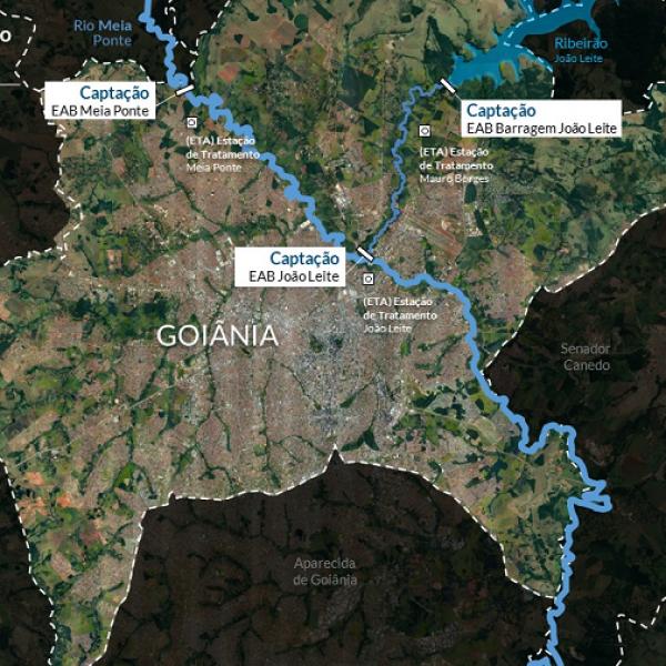 mapa de goiânia pela saneago