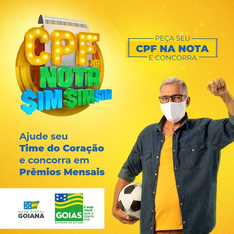 TIME GOIANO-Campanha do CPF na nota Fiscal